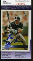 Tim Raines 1996 Topps Jsa Coa Hand Signed Authentic Autographed White Sox