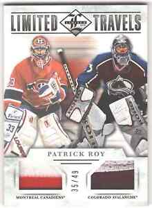 12/13 PANINI LIMITED NHL LIMITED TRAVELS DUAL 2 COLOR PRIME JERSEY CARD #TD-ROY
