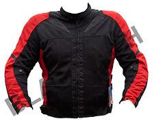 BLACK ASH BA11 MENS MOTORCYCLE TEXTILE MESH ARMOR JACKET RED MEDIUM