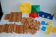Lincoln Logs Building Pieces Lot of 117 Hasbro Incomplete Set