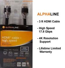 AlphaLine HDMI-Cable High Speed 3 ft  Model # 10898