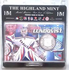 Henrik Lundqvist New York Rangers NHL Silver Coin Acrylic Display Stand
