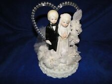 New Cherished Moments Cake topper with Bride & Groom with beaded heart