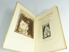 "Mallarmé ""Vers et prose"" Frontispice GAUGUIN. Portrait WHISTLER. 1927"