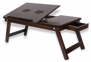Portable Wood Laptop Table Adjustable Table Stand