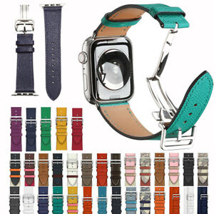 For Apple Watch Band Genuine Leather Strap Single Tour For iWatch Series 6/5/4/3