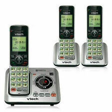 New 3-Handset Cordless Phone with Answering System DECT 6.0 ID Call Waiting Home
