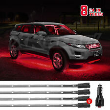 US Seller 8 Tube LED Neon Underglow Interior Accent Light Kit 3 Modes - RED