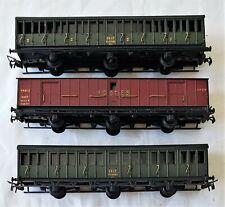 Lot/3 SMCF SNCF French National Railway Coach Model Railroad Train Passenger Car