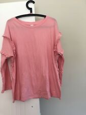 Ladies Plus Size 20 Clothing &Co Long Ruffle Sleeve Top