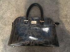 Paul's Boutique Bag Handbag Black Leopard Print