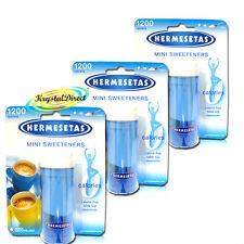 3x Hermesetas Mini Sweeteners Original Calorie Free Tablets 1200