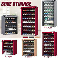 5/6/8/10 Tiers Dustproof Shoe Storage Rack  Cabinet Closet