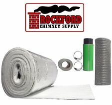 """Chimney Liner Insulation Kit - fits 3-6"""" Dia. x 10' Liners - Blanket Insulation"""