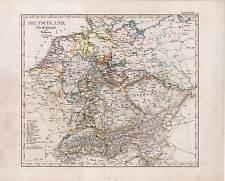 Deutschland, Niederlande und Schweiz - Germany - Karte-Map 1837