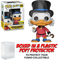 Funko POP! Disney ~ SCROOGE MCDUCK (RED COAT) EXCLUSIVE #555 w/Protector Case