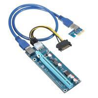 USB 3.0 PCI-E Riser Express 1X 4x 8x 16x Extender Riser Adapter Card SATA 1