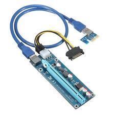 6 un. USB 3.0 tarjeta vertical PCI-E Express 1X 4x 8x 16x Tarjeta vertical Adaptador Extensor SATA 1
