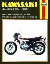 Kawasaki KH250 KH350 KH400 Haynes Manual de Taller Nuevo En Inglés