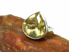 CITRINE   Sterling  Silver  925  Gemstone  RING  -  Size: P  -  Gift Boxed!