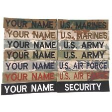 Military Custom Name Tapes: Multicam Scorpion/OCP ACU ABU Desert/Woodland Marpat