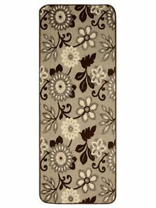 Soft Cotton Tufted Jacquard Kitchen/Bed Side Runner Of 40 x 120 cms, Brown, 1 Pc