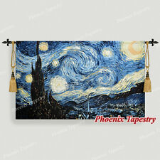 "Van Gogh Starry Night Fine Art Tapestry Wall Hanging, Cotton 100%, 55""x34"", UK"