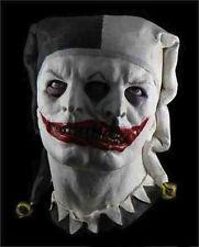 Two Face Jester Mask Clown Fancy Dress Halloween Latex Full Head Costume Zombie