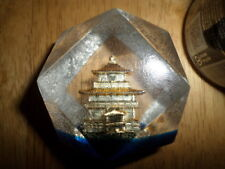 JAPAN PAGODA, ACRYLIC PAPERWEIGHT - STATUE, VINTAGE 1960's yrs.