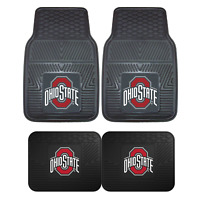 Ohio State University 2pc & 4pc Mat Sets-Heavy Duty-Cars,Trucks,SUVs