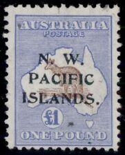 Northwest Pacific Islands #10, £1 ultra & brown, used w/light cancel, Scott $775