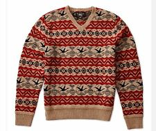 $595 RRL Ralph Lauren Vintage Fair Isle Wool Blend Pullover Sweater -MEN- L