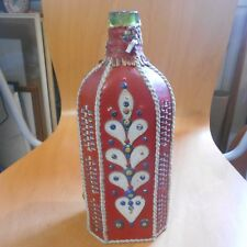 leather decorated bottle