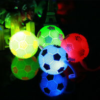 Funny Flashing LED Football Light Up Bouncing Hedgehog Ball Baby Kids Boys Toy