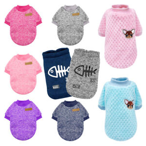 Cute Small Dog Cat Sweater Knitted Winter Clothes Pet Puppy Vest Jumper Knitwear