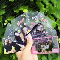 8PCS Kpop BLACKPINK Transparent Photo Cards LISA ROSE Collective Cards wcx Top
