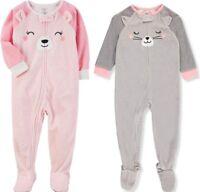 Carter's Infant or Toddler Girls Fleece Blanket Sleeper NWT 12M 18M 24M 2T 3T 5T
