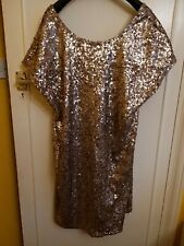 Next Antique Gold Sequined Shift Dress 20