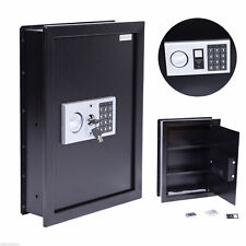 HOMCOM Digital Wall Safe Box With Keypad Lock Home Office Hotel Security