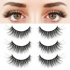 New listing 3 Pairs False Eyelashes Synthetic Fiber Material, 3D Faux Mink Lashes