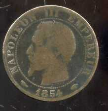5 centimes NAPOLEON III 1854 A  (5)