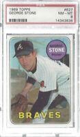 George Stone 1969 Topps Near Mint PSA 8 Braves MLB!!