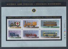 Canada Historical Land Vehicles - 2 #1527i MF Paper Souvenir Sheet MNH
