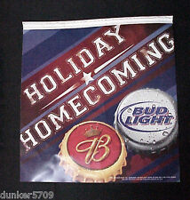 """1 2004 Two Sided Hanging Pennant Bud Light Holiday Homecoming 11 1/2"""" X 12 1/4"""""""