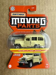 Matchbox moving parts 1962 Willys Jeep Wagon Yellow 2021 new Release