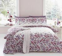 Dreams & Drapes Malinda Floral Reversible Duvet Cover Bedding Set Blush / Pink