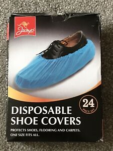24 x Disposable Shoe Covers Overshoes Carpet Protectors One Size Fits All Cover