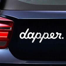 White Dapper Car Styling Sticker Decals Front Rear Windshield Window Door Decor
