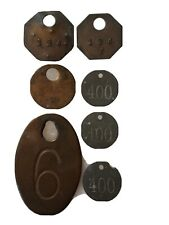 Miners Ore Car Lamp Check Tags