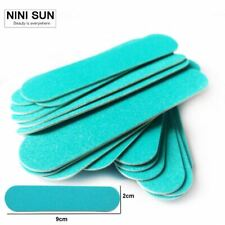 Hot Blue Disposable Wooden Nail File Manicure Beauty Files Sandpaper Polishing B